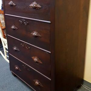 walnut chest after